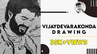 Vijay devarakonda drawing/inkem inkem drawing