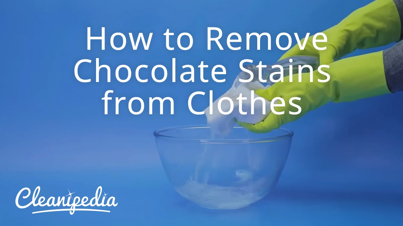 how to remove chocolate stains from clothes youtube. Black Bedroom Furniture Sets. Home Design Ideas