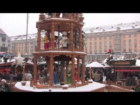 Christmas Time in Dresden, Saxony, Germany - December 2012