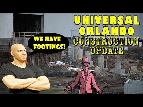 Universal Orlando Resort Construction Update 3.1.18 A Phoenix Rises & Doughnut Delight!