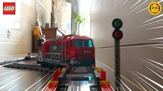 레고시티 60098 중량물운송열차 스톱모션 조립 / L…