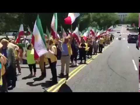 Manifestation à Washington pour un Iran Libre  pour soutenir la Résistance iranienne