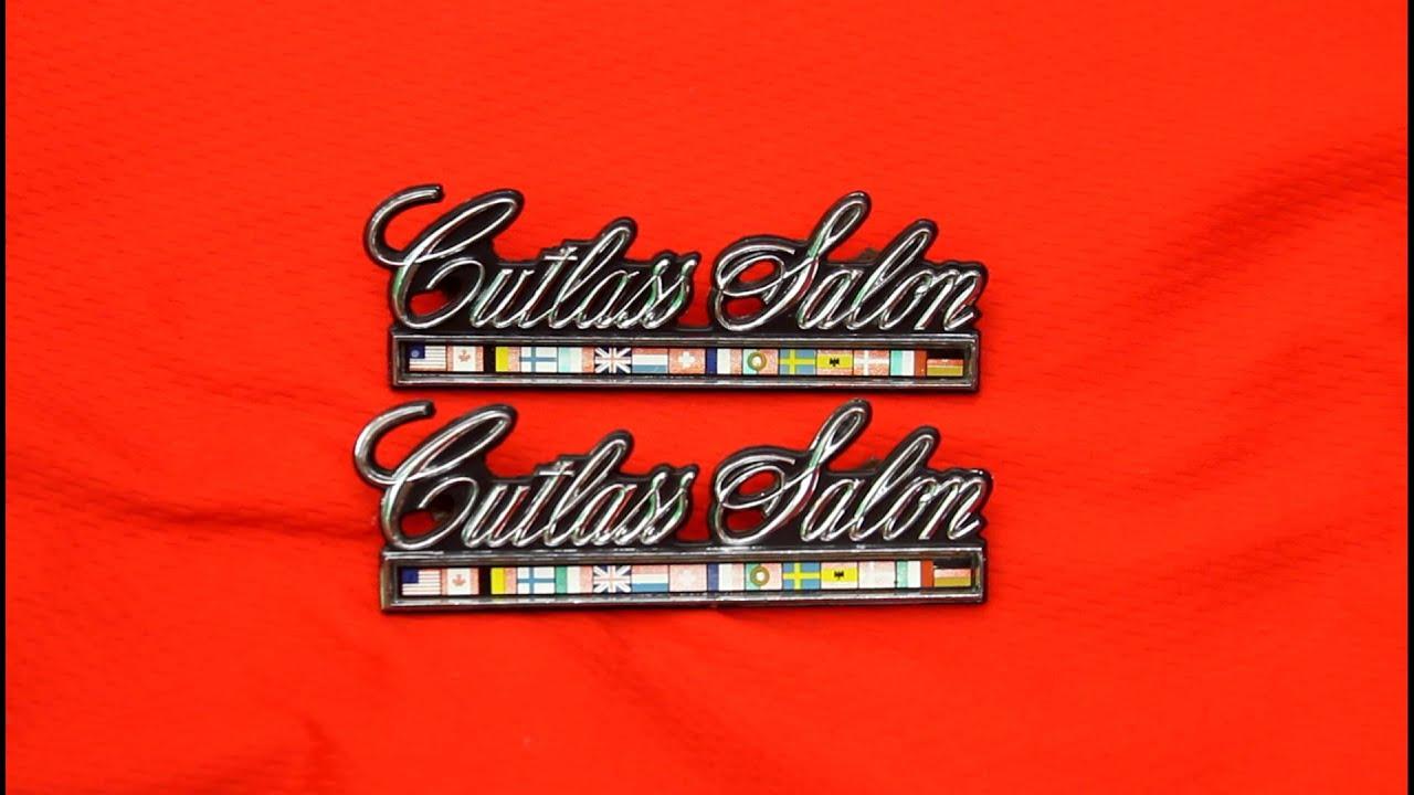 oldsmobile cutlass salon supreme 442 emblems youtube