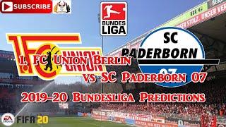 Tuesday 16th june 1. fc union berlin vs sc paderborn 07 | 2019-20 german bundesliga predictions fifa 20subscribe & turn on notificationsif you liked the vi...