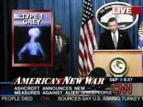 John Ashcroft vs The Aliens - by Davy Force (2001)
