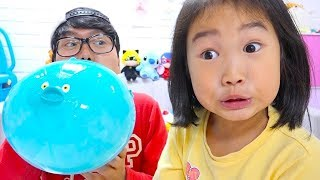 تحدي البالونات العملاقة مع بولام!!