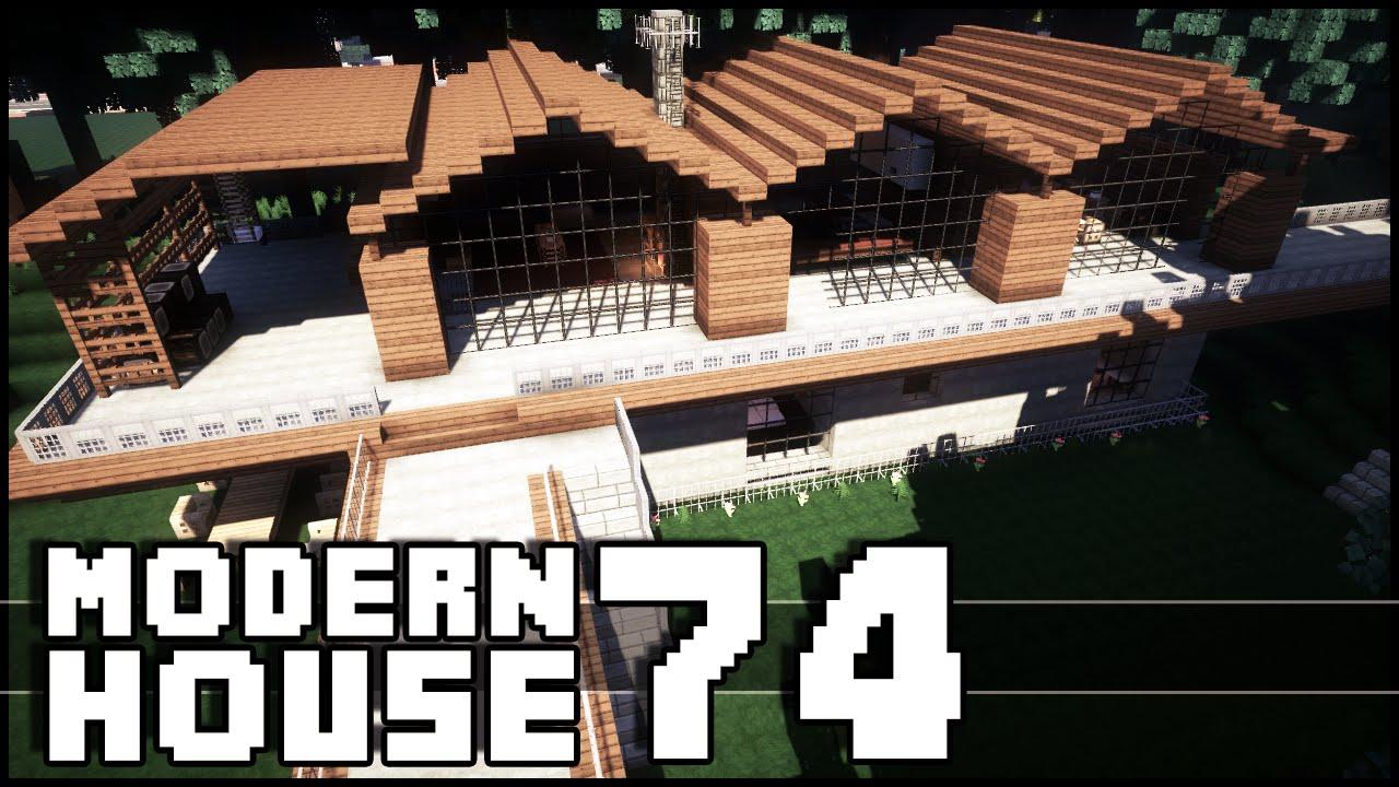 Minecraft wooden modern house 74 keralis let 39 s play for Modern house 5 keralis