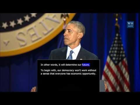 President Obama - Farewell Address to the...
