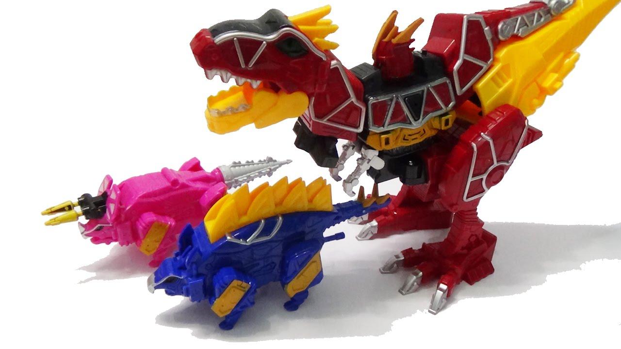 Robot siêu nhân khủng long biến hình đồ chơi lắp ráp - khủng long bạo chúa,  ba sừng, lưng gai - YouTube