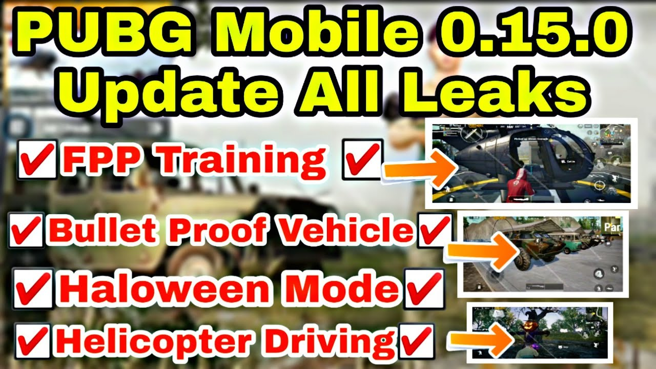 PUBG Mobile Official 0.15.0 Update All Leaks | Patch REPORT | Date Confirm Update | Op Gaming |
