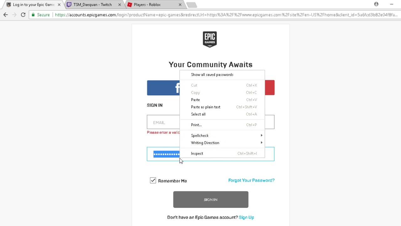 How to Reveal Your Password On Fortnite Epic games Account ...