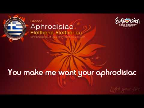 Eleftheria Eleftheriou-Aphrodisiac(Greece)-Eurovision Song Contest 2012 - on screen lyrics (HD)