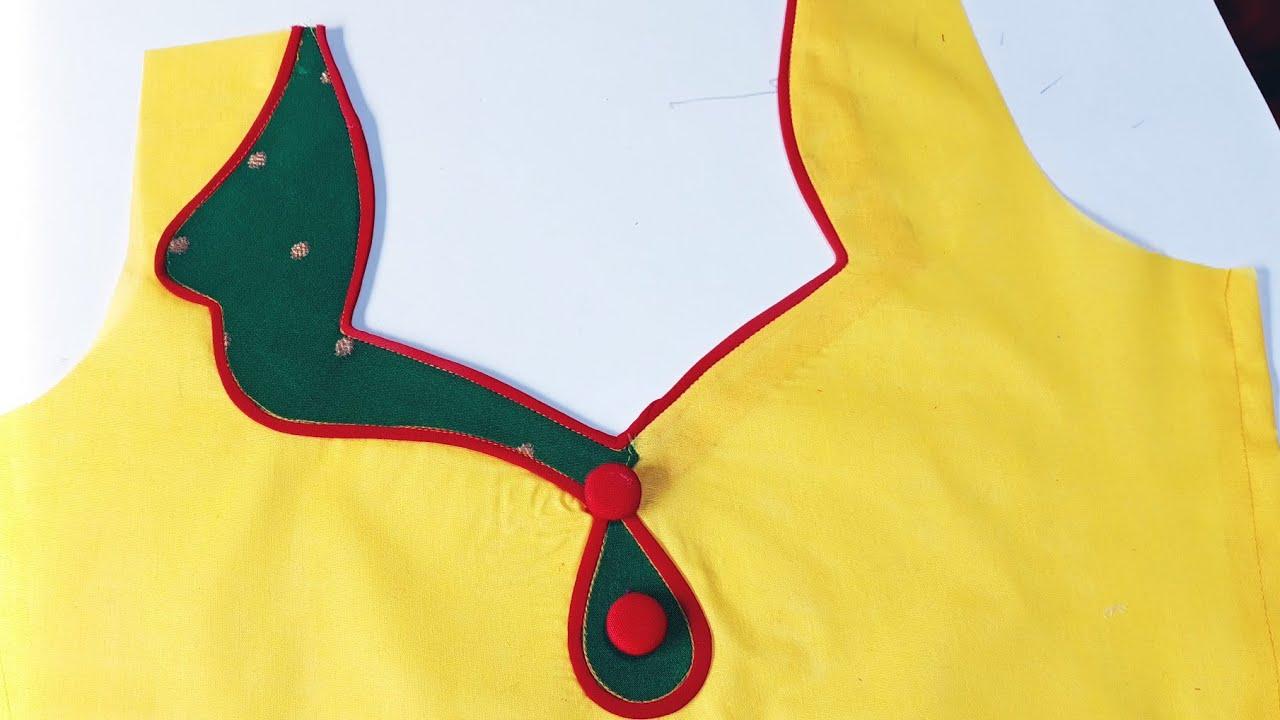 बलाउज नैक डिजाईन ऐसा नैक पहले कभी नही देखा होगा    Latest And Beautiful Blouse Back Neck Design