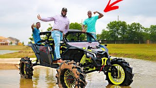 I PUT HIS BRAND NEW CAN-AM IN A POND !