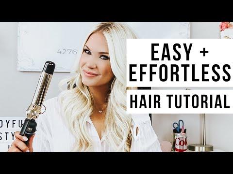 EASY + EFFORTLESS HAIR CURLING TUTORIAL thumbnail