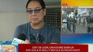 UB: Joey De Leon, umaasang babalik ang sigla ni Wally Bayola sa pagho-host