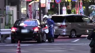 【警察】SP、警護車付の車を捕らえてしまった交機の白バイ