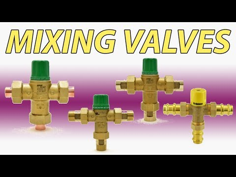 Mixing valve options in plumbing and radiant/heating applications