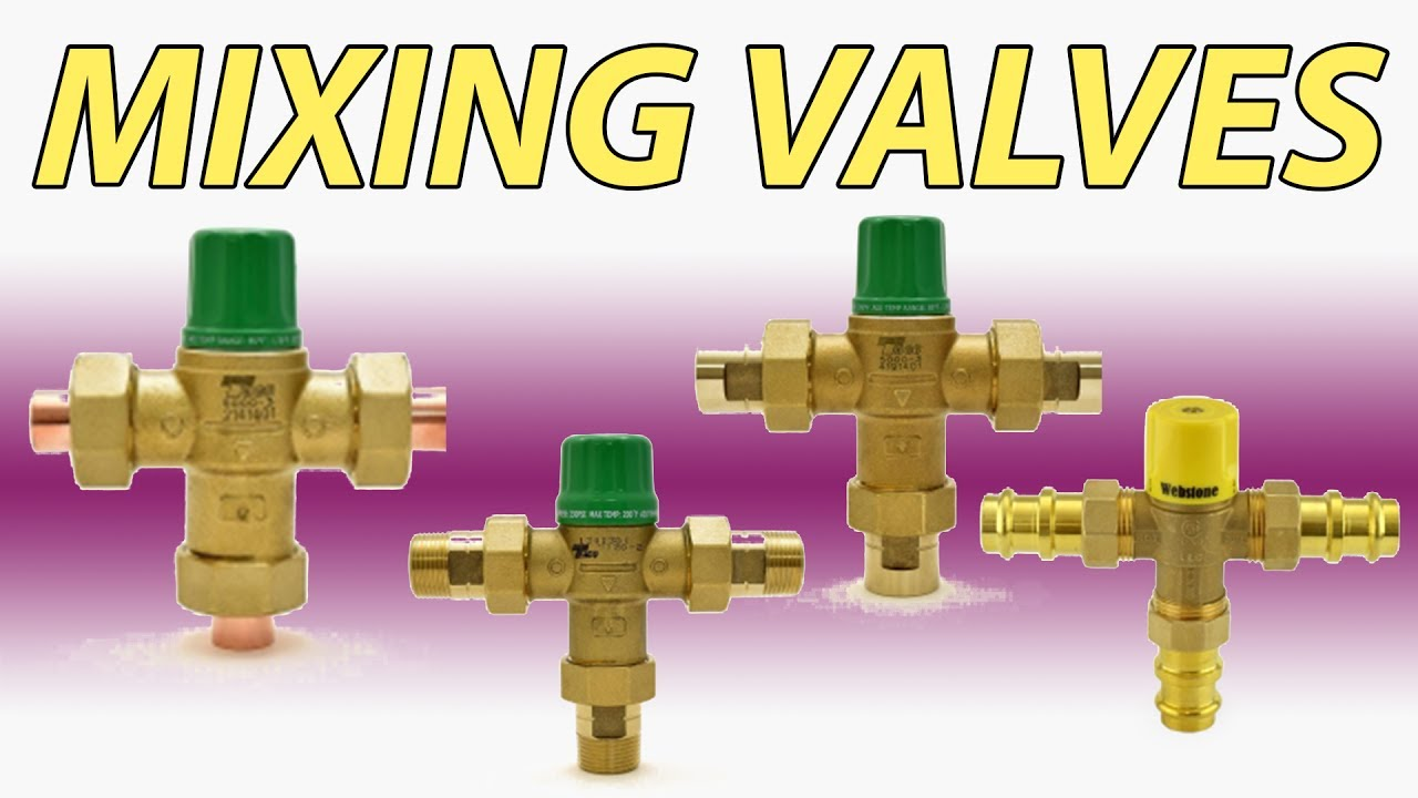hight resolution of mixing valve options in plumbing and radiant heating applications