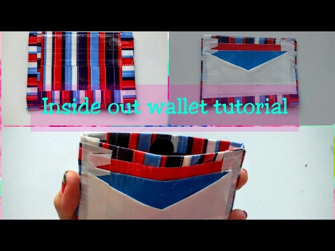 Duct tape inside out wallet tutorial!