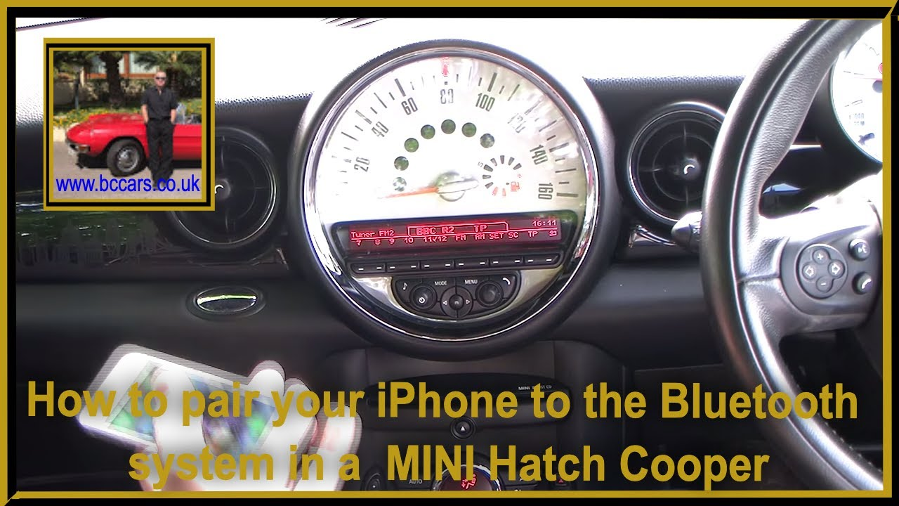 How To Pair Your Iphone To The Bluetooth System In A Mini Hatch