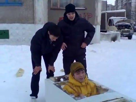 Смешные картинки катания на горке зимой
