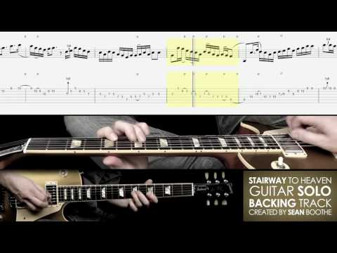 Stairway to Heaven guitar solo BACKING TRACK with score and TAB