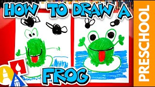 Drawing A Frog & Flies With Shapes - Preschool