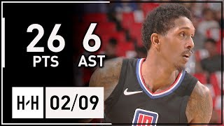 Lou Williams Full Highlights Clippers vs Pistons (2018.02.09) - 26 Pts, 6 Assists!