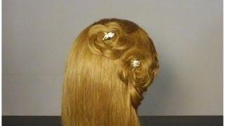 Прическа: ажурные косы в виде цветков.  Braided flowers hairstyle(Подписывайтесь на канал на ютубе http://www.youtube.com/user/womenbeauty1 Группа ВКОНТАКТЕ http://vk.com/club37040135 Twitter https://twitter.com/#!, 2012-06-22T20:06:20.000Z)