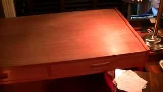 Teak Table Sanding, Oiling