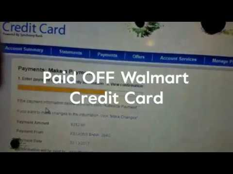 Paid OFF Walmart Credit Card Dave Ramsey Inspired