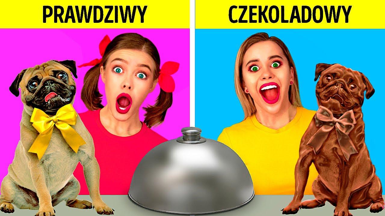 Download CZEKOLADA VS NORMALNE RZECZY || Zabawne psikusy i test smaku od 123 GO! FOOD