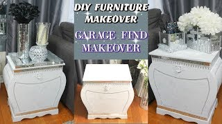 DIY GLAM FURNITURE MAKEOVER | GARAGE SALE TRASH TO TREASURE | FURNITURE MAKEOVER IDEAS 2019