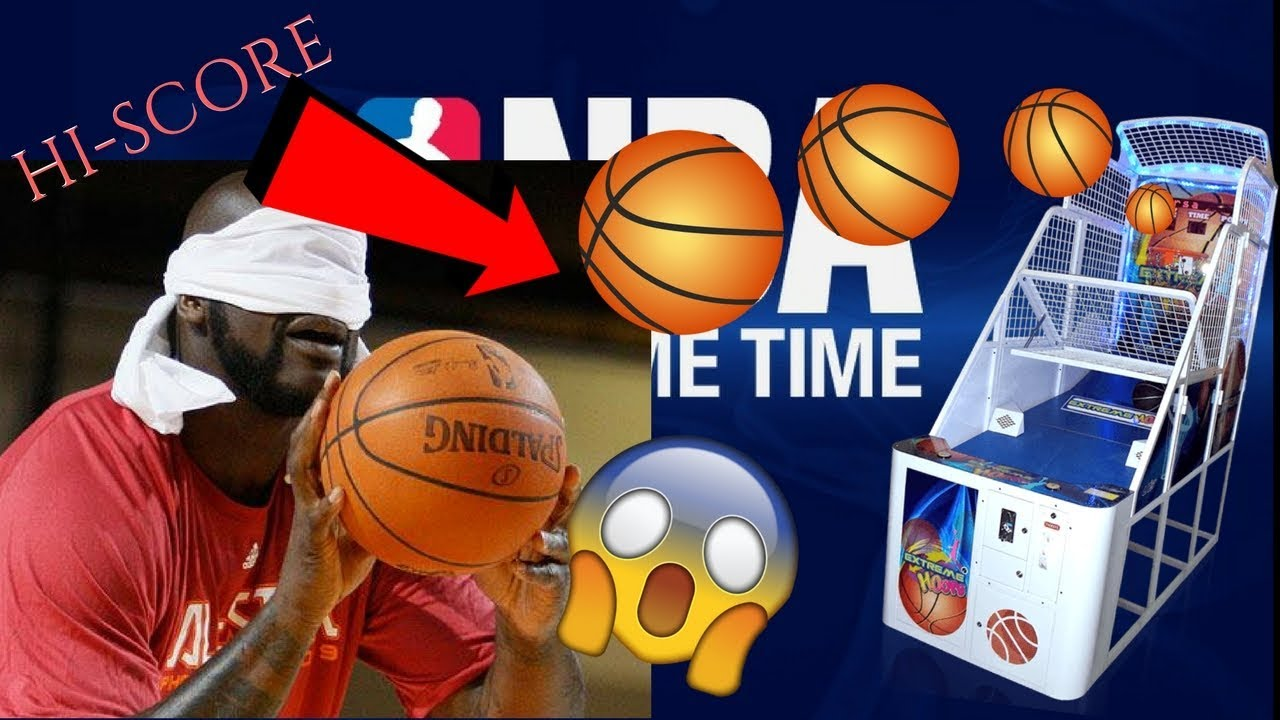 EPIC* BLINDFOLDED ARCADE HOOPS!!![BREAKING RECORDS]