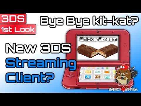 "Snickerstream ""A Completely New Streaming Client"" - 3DS: First Look - Can it Compete With Kit-kat?"