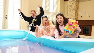 WE MADE A GIANT POOL OF SUPER CLEAR THICK SLIME PUTTY! It took 2 MONTHS!
