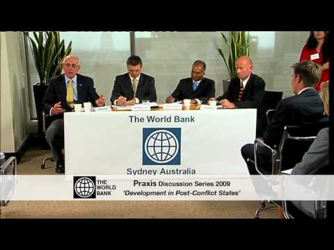 Praxis Discussion Series:  Dev't in Post-Conflict States