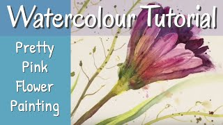 How To Paint A Beautiful Flower In Watercolour Step By Step
