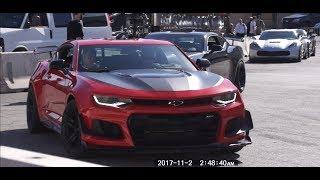 !! LAS VEGAS SEMA SHOW 2017 CAMARO ZL1 drive !! 라스베가스 세마쇼 카마로 ZL1 주행영상 배기음!!!