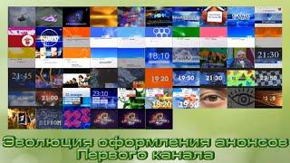 Эволюция заставок анонсов ОРТ/Первого канала