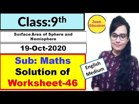 Class 9 Maths worksheet 46 : English medium || 19 Oct 2020 : maths worksheet 46 : worksheet 46 math