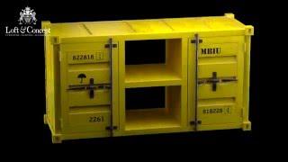 ТВ тумба Loft TV container(Это 3d модель реальной мебели ТВ тумба Loft TV container Артикул 10.069.RU.05.LOFT Производитель loft concept Материал Металл..., 2016-02-23T08:21:33.000Z)