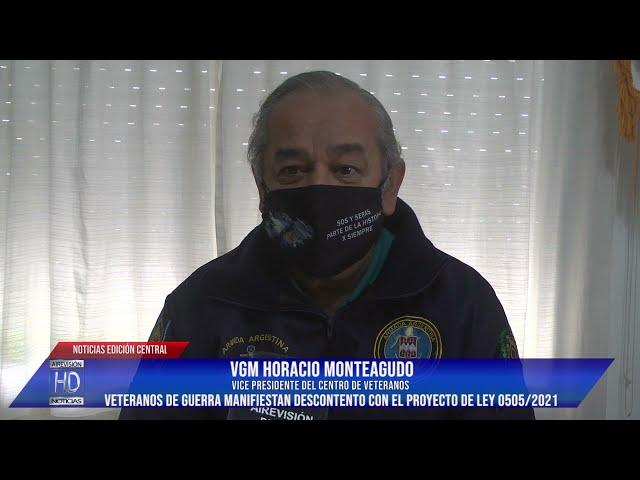 Horacio Monteagudo Descontento y desacuerdo con el proyecto de ley 0505  2021