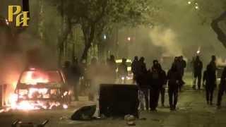 Анархисты устроили погром в центре Афин(Греческий премьер министр уезжает в Москву, а в это в время в Афинах прошли беспорядки и погромы спровоциро..., 2015-04-07T21:35:53.000Z)