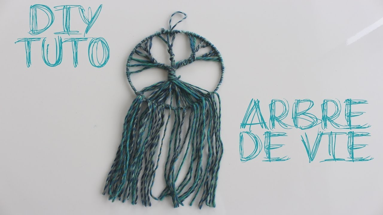 Diy Tuto Arbre De Vie Facon Dreamcatcher Youtube