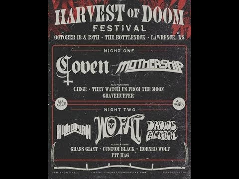 Gravehuffer - live from Harvest of Doom Fest - Bottleneck - Lawrence, KS 10-18-19
