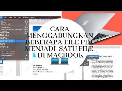 Cara Menggabungkan Beberapa File Pdf Kedalam Satu File Pdf Di Macbook Youtube