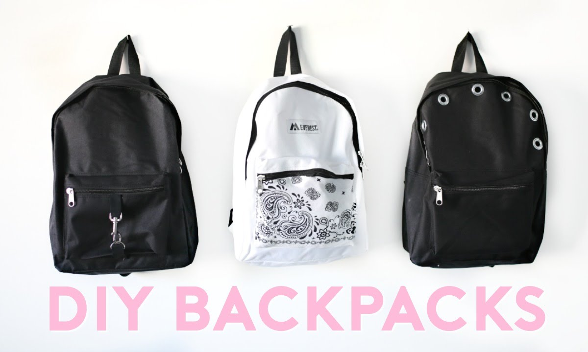 57f951c18e DIY Backpacks for Back To School 2016! Easy   Trendy! - YouTube