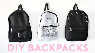 DIY Backpacks for Back To School 2016! Easy & Trendy!